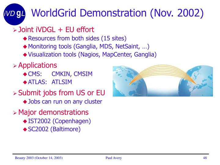 WorldGrid Demonstration (Nov. 2002)