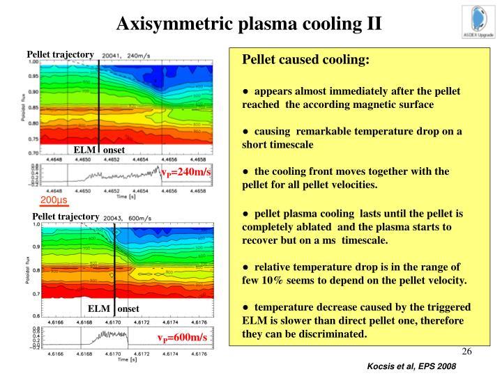 Axisymmetric plasma cooling II