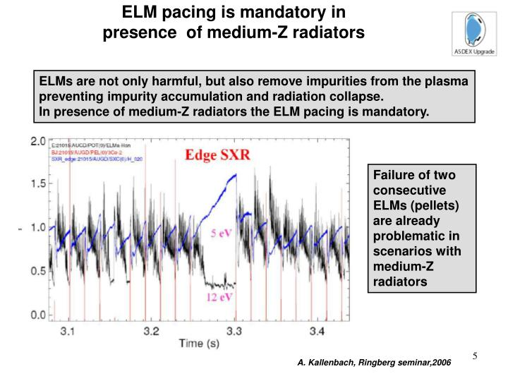 ELM pacing is mandatory in