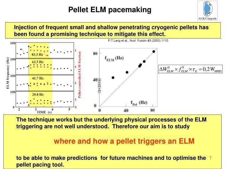 Pellet ELM pacemaking