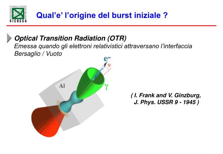 Optical Transition Radiation (OTR)
