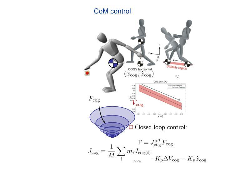 CoM control