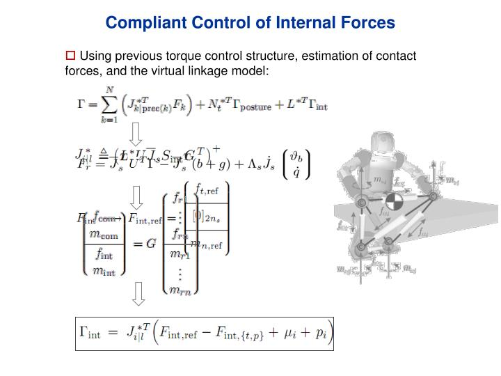 Compliant Control of Internal Forces