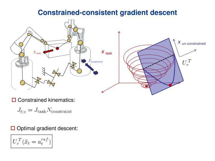 Constrained-consistent gradient descent