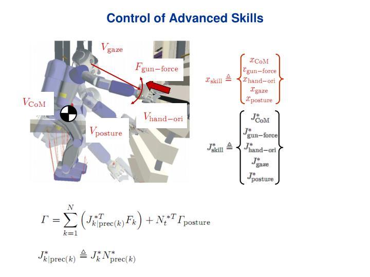 Control of Advanced Skills