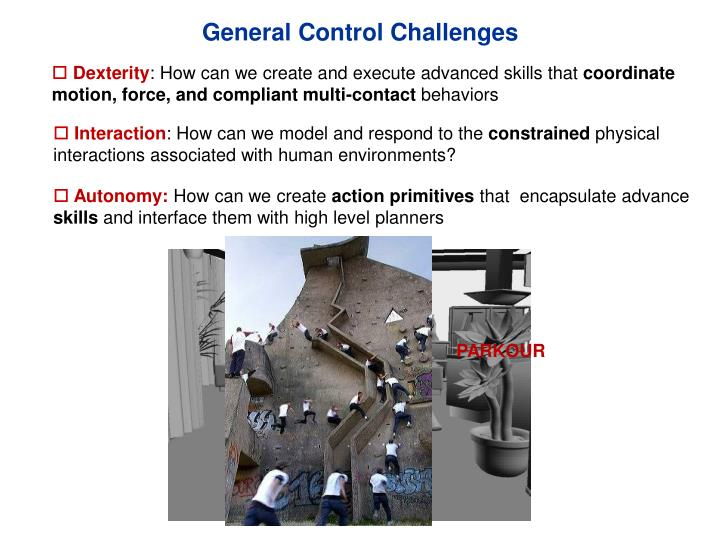 General Control Challenges