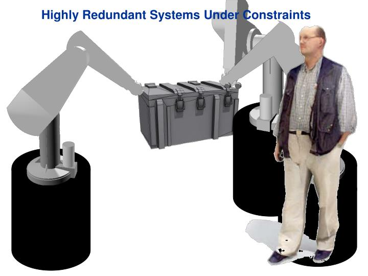 Highly Redundant Systems Under Constraints