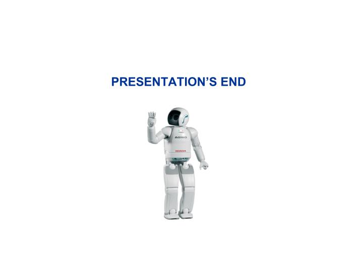 PRESENTATION'S END