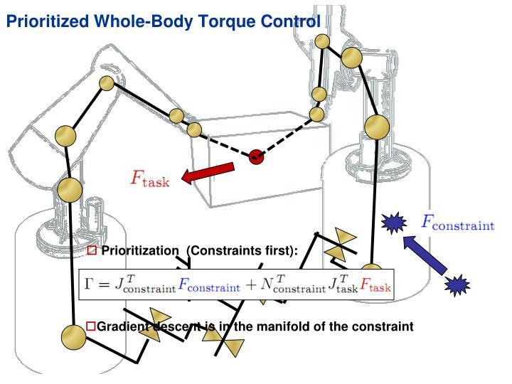 Prioritized Whole-Body Torque Control