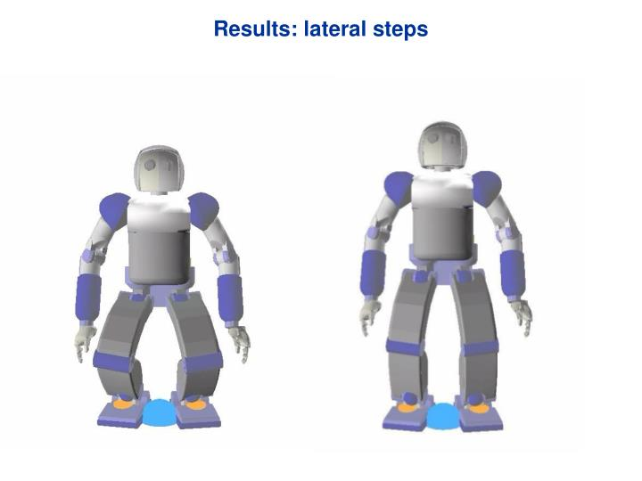 Results: lateral steps