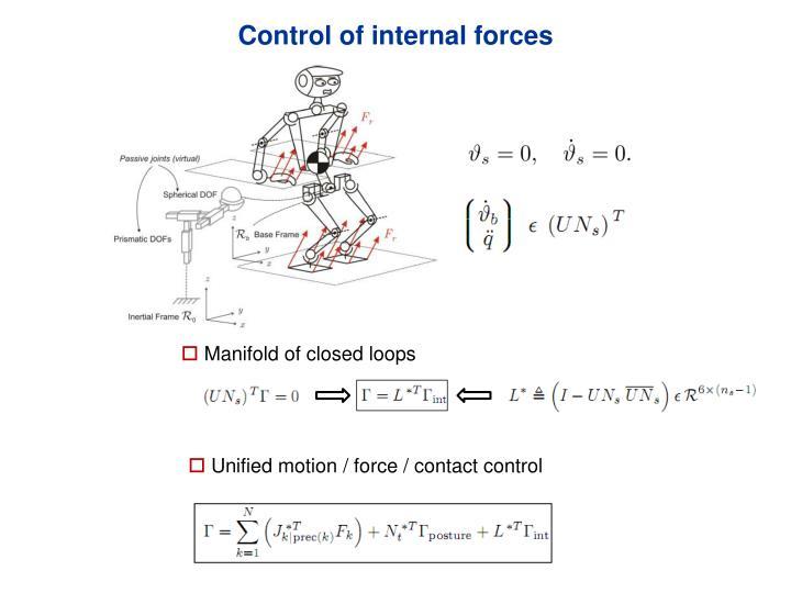 Control of internal