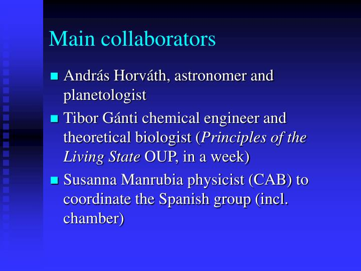 Main collaborators