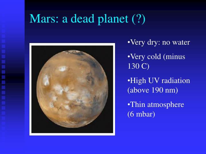 Mars: a dead planet (?)