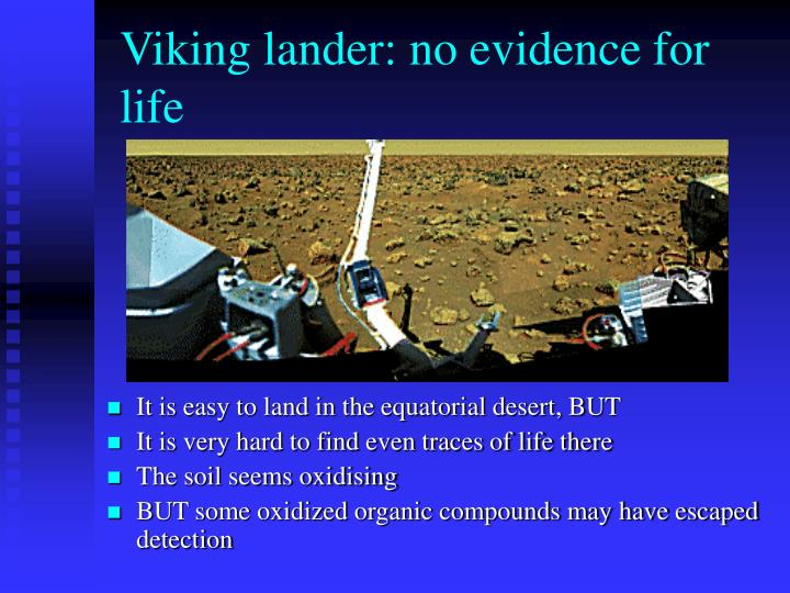 Viking lander: no evidence for life