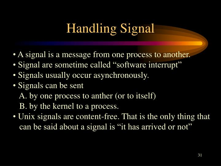 Handling Signal
