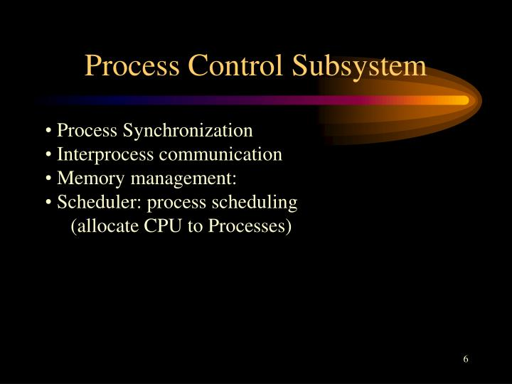 Process Control Subsystem