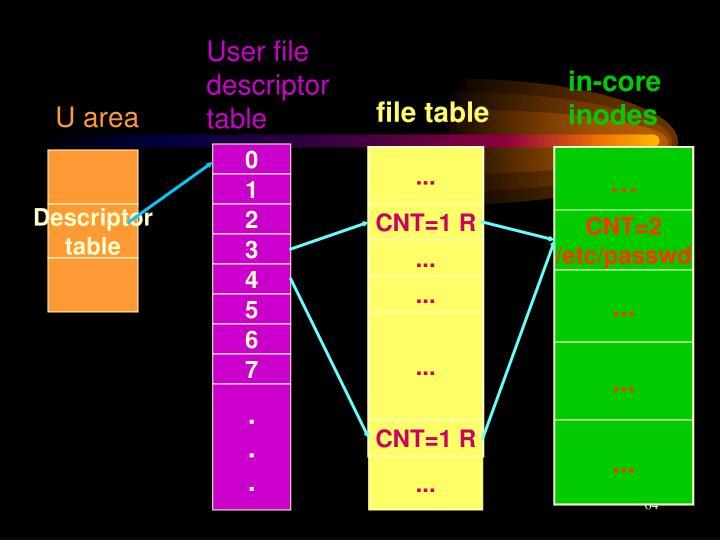 User file