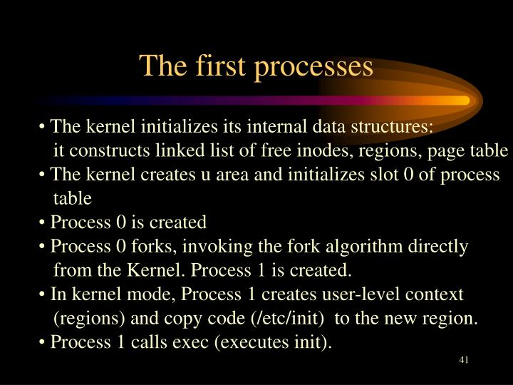 The first processes