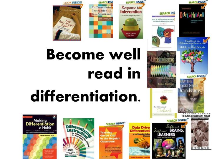 Become well read in