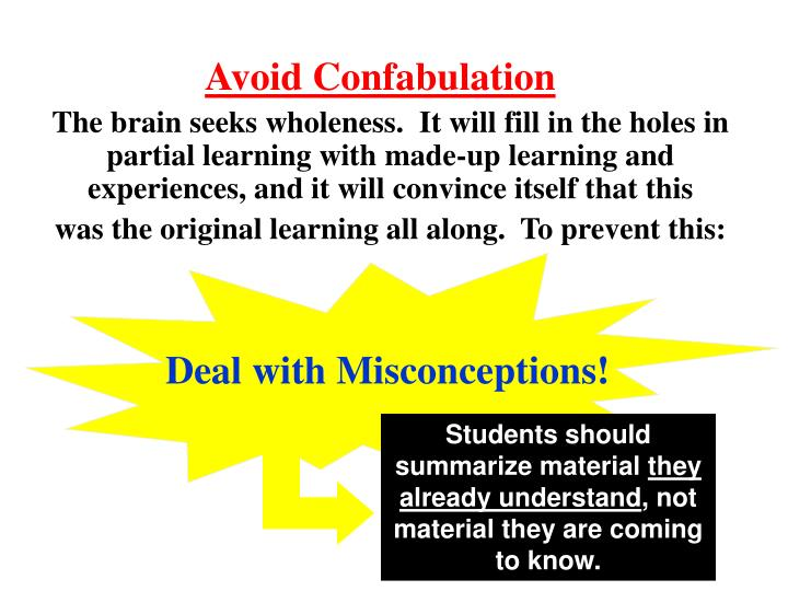 Avoid Confabulation