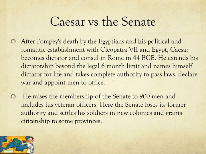 Caesar vs the Senate