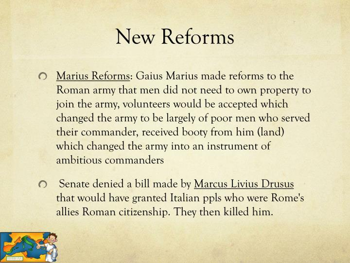 New Reforms