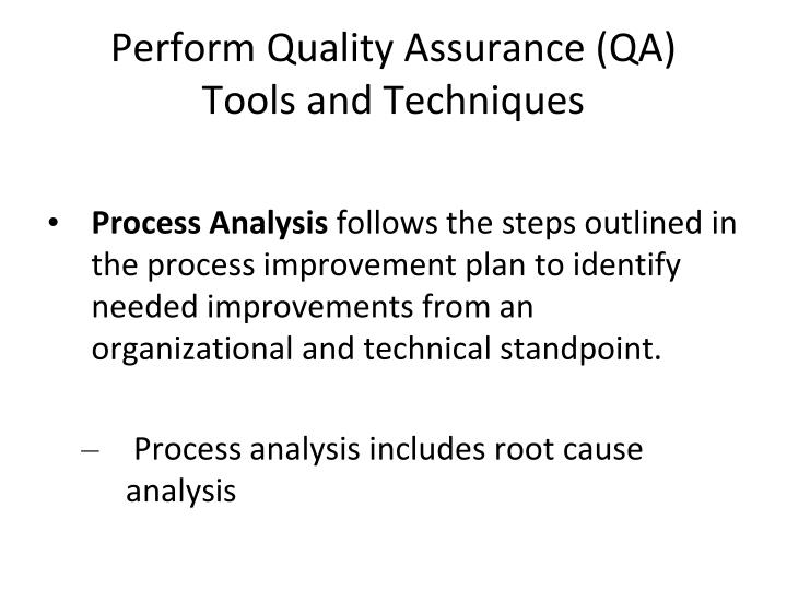 Perform Quality Assurance (QA)