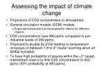 assessing the impact of climate change