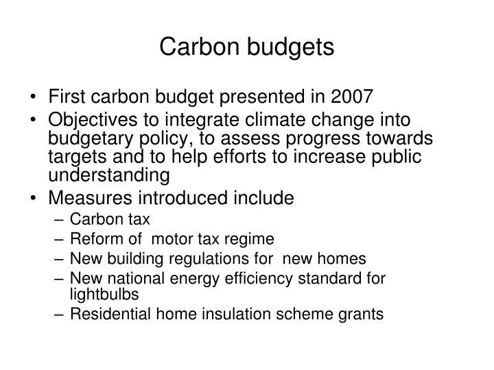 Carbon budgets