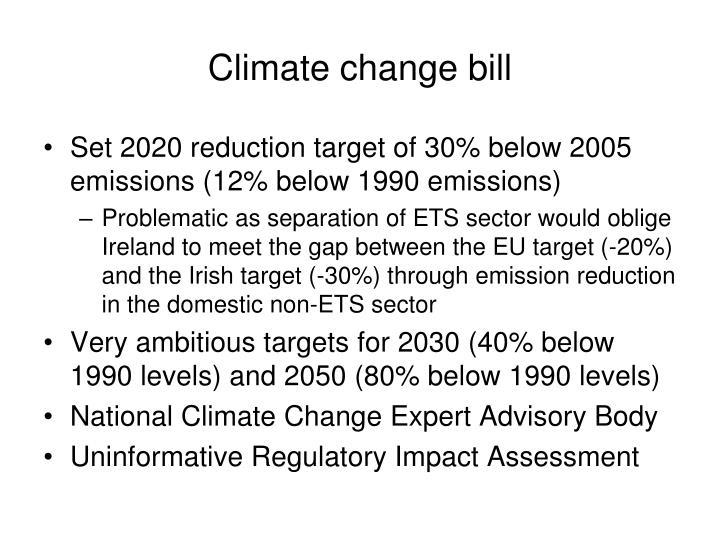Climate change bill
