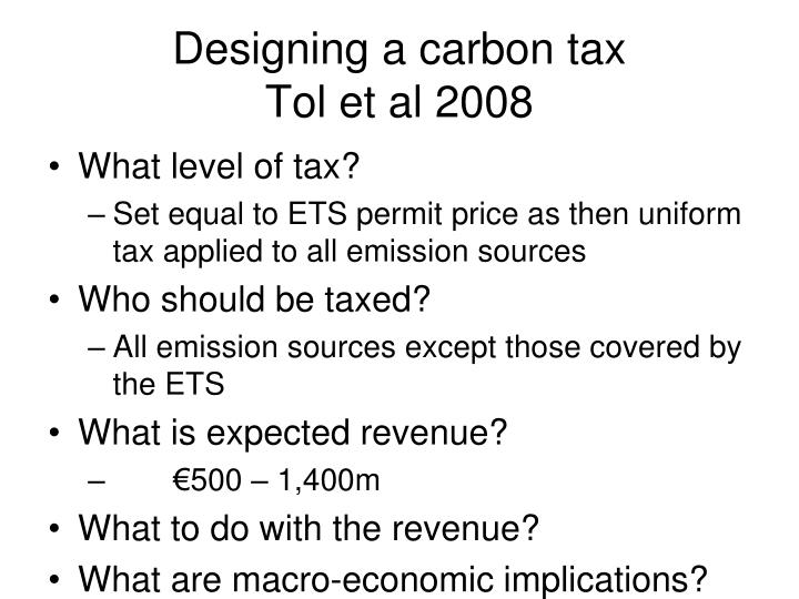 Designing a carbon tax