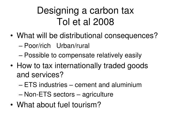 Designing a carbon tax