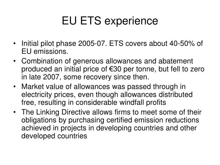 EU ETS experience