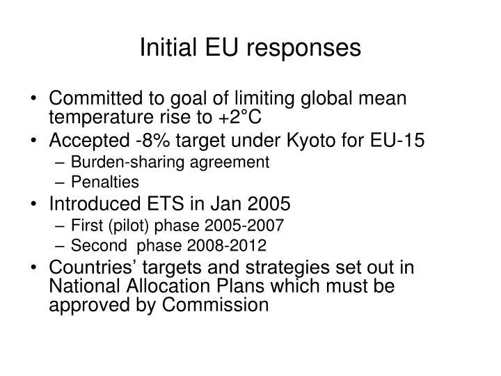 Initial EU responses