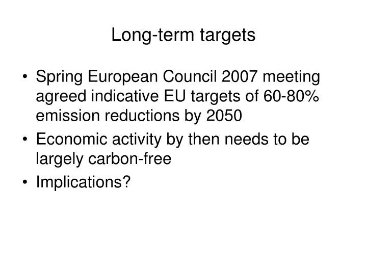 Long-term targets