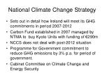 national climate change strategy