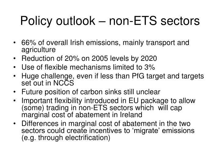 Policy outlook – non-ETS sectors