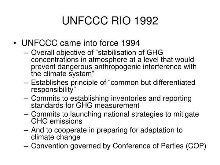 UNFCCC RIO 1992