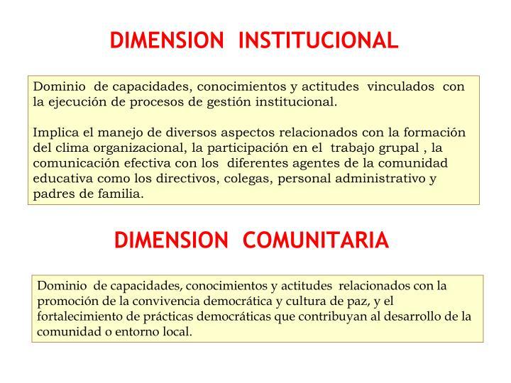 DIMENSION  INSTITUCIONAL