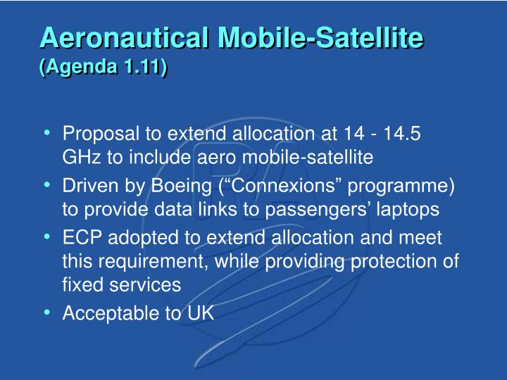 Aeronautical Mobile-Satellite
