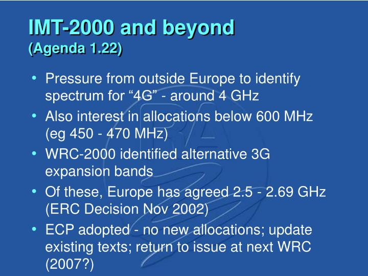 IMT-2000 and beyond