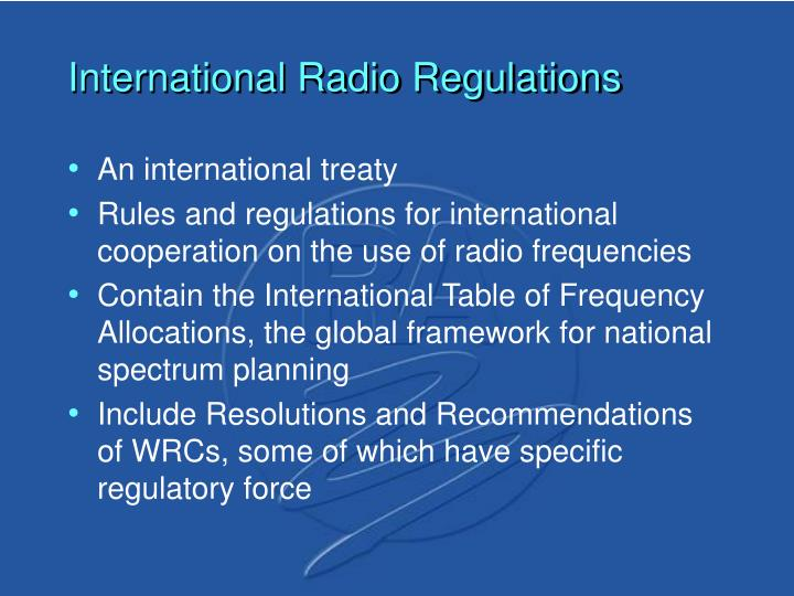 International Radio Regulations