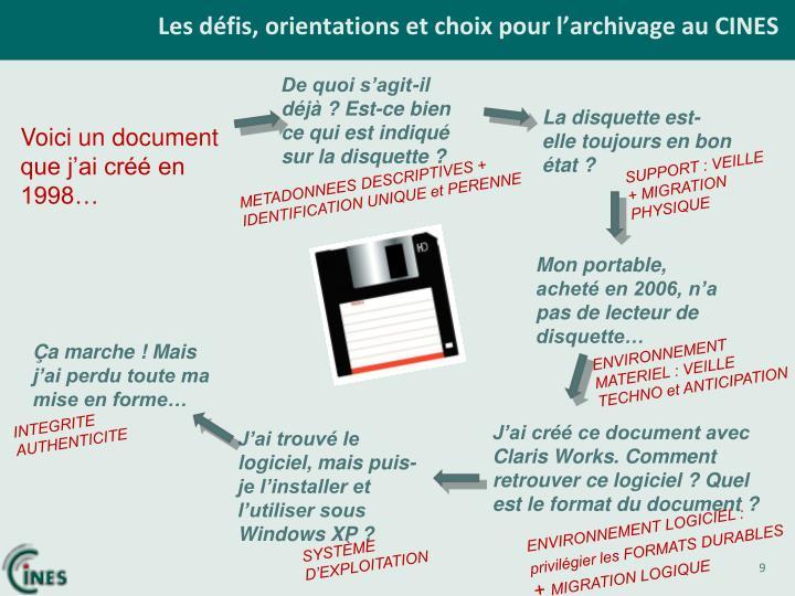 Les défis, orientations et choix pour l'archivage au CINES