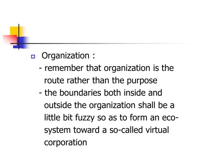 Organization :