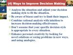 4 ways to improve decision making