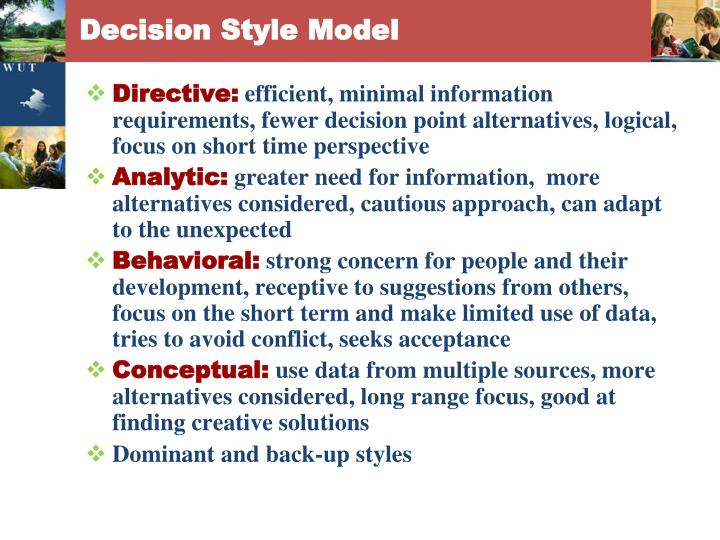Decision Style Model