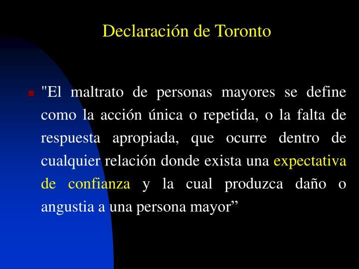 Declaración de Toronto