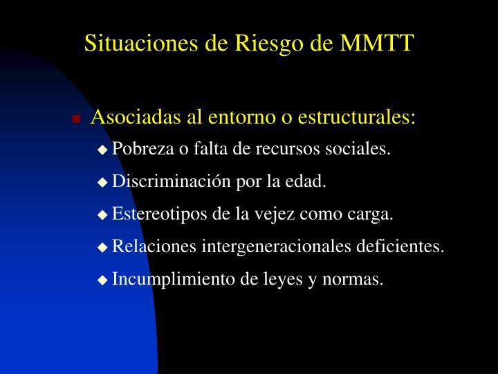 Situaciones de Riesgo de MMTT