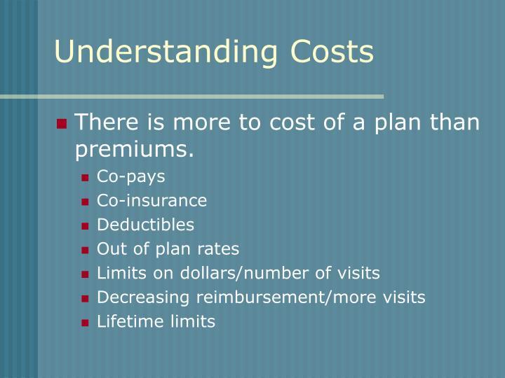 Understanding Costs