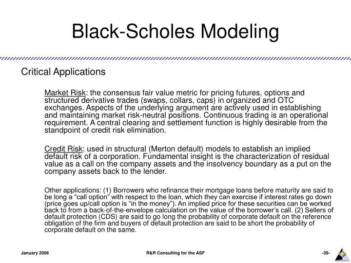 Black-Scholes Modeling